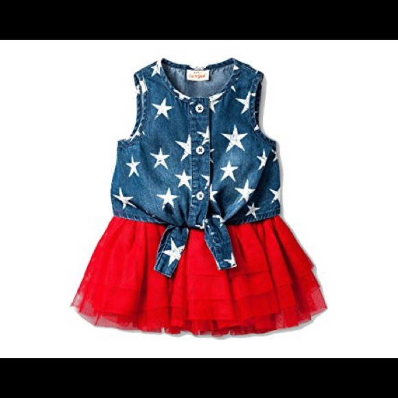 5a7f7bbb431b Cat & Jack Matching Sets | Cat Jack Denim Stars Red Tutu Outfit ...